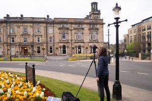 Behind the scenes photographing a The Crown Hotel Harrogate