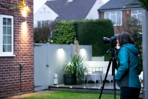 Behind the scenes photographing a house